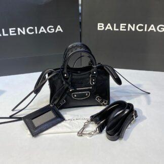 balenciaga canta city miniboy siyah gumus 19x12