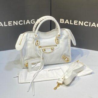 balenciaga canta city orta boy beyaz  gold 31x23 cm