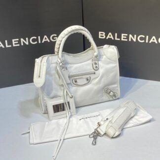 balenciaga canta city orta boy beyaz silver 31x23 cm