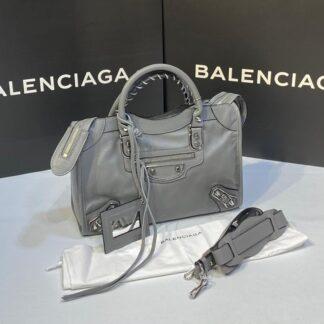 balenciaga canta city orta boy gri silver 31x23 cm