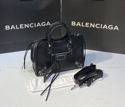 balenciaga canta city orta boy siyah silver 31x23 cm
