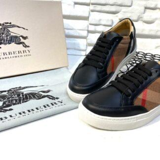 burberry ayakkabi check pattern low top sneakers siyah