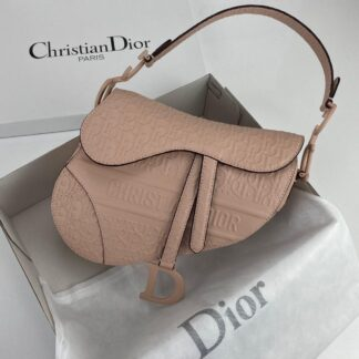 christian dior canta saddle embossed calfskin pudra pembe 25x20x6cm