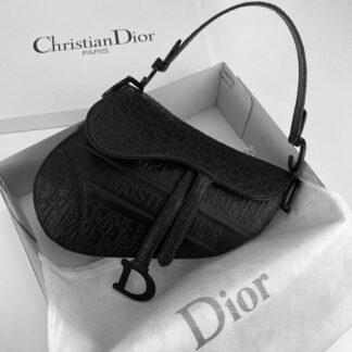 christian dior canta saddle embossed calfskin siyah 25x20x6cm