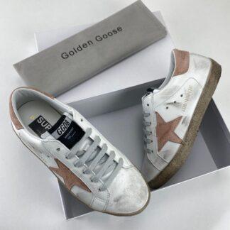 golden goose ayakkabi super star sneaker beyaz pudra pembe