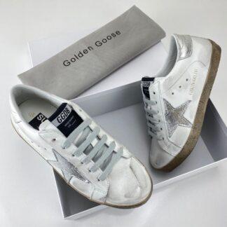 golden goose ayakkabi super star sneaker beyaz silver