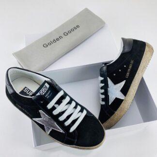 golden goose ayakkabi super star sneaker suet siyah silver