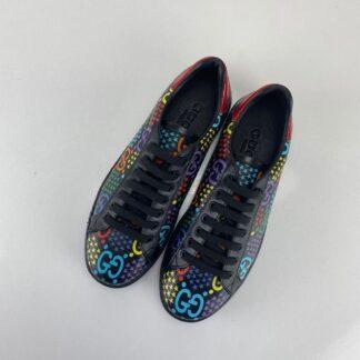 gucci ayakkabi ace black gg psychedelic sneaker