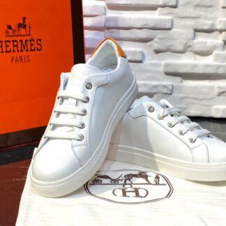 hermes ayakkabi avantage sneaker beyaz turuncu