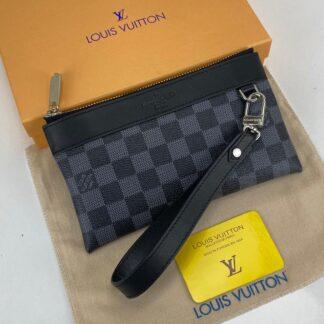 louis vuitton cuzdan wrislet wallet portfoy damier siyah 21x12 cm