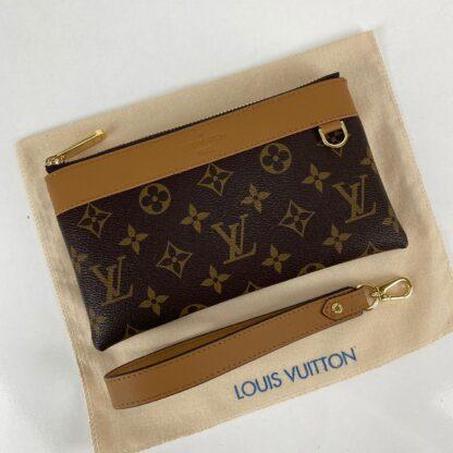 louis vuitton cuzdan wrislet wallet portfoy monogram kahve 21x12 cm