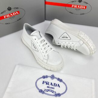 prada ayakkabi wheel gabardine sneakers beyaz