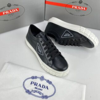prada ayakkabi wheel gabardine sneakers siyah