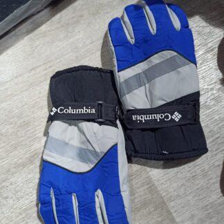 columbia eldiven gri lacivert su gecirmez kar eldiveni