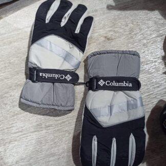 columbia eldiven siyah gri su gecirmez kar eldiveni