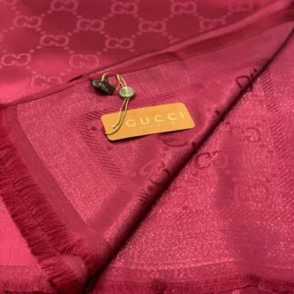 gucci sal esarp ipek polyester bordo simli 175x75 cm