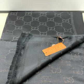 gucci sal esarp ipek polyester gri simli 175x75 cm