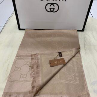 gucci sal esarp ipek polyester pudra simli 175x75 cm
