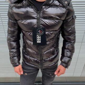 moncler mont erkek 2021 siyah parlak