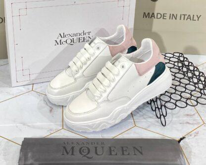 alexander mcqueen ayakkabi sneaker beyaz pudra yesil