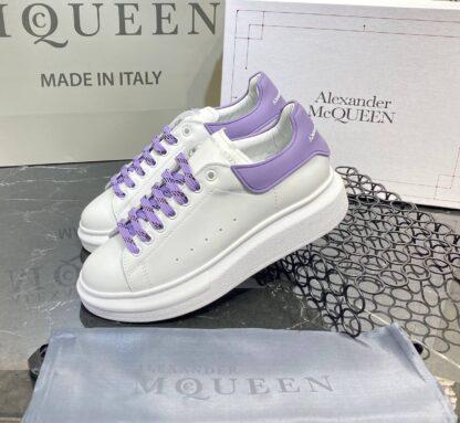 alexander mcqueen ayakkabi yeni sezon beyaz mor sneaker