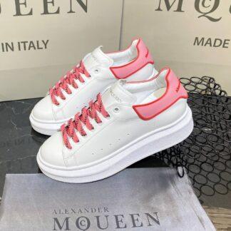 alexander mcqueen ayakkabi yeni sezon pembe beyaz kirmizi sneaker