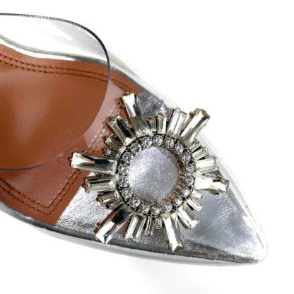 amina muaddi ayakkabi stiletto seffaf topuk 10 cm