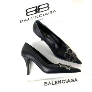 balenciaga ayakkabi siyah stiletto square knife