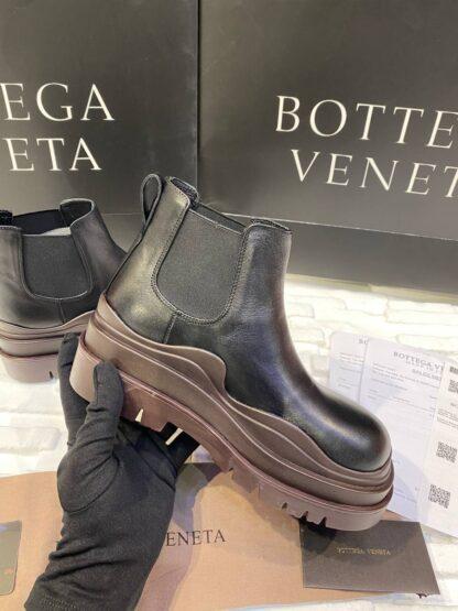 bottega veneta ayakkabi the tire boot bot kisa boy siyah kahve