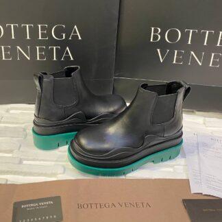 bottega veneta ayakkabi the tire boot bot kisa boy siyah yesil