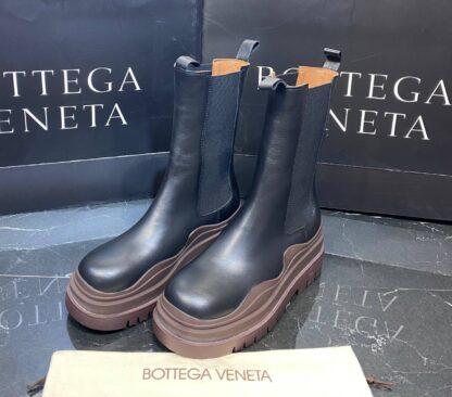 bottega veneta ayakkabi the tire boot bot uzun boy siyah kahve