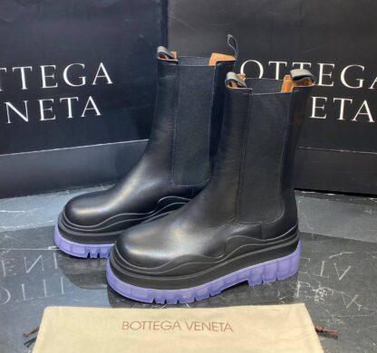 bottega veneta ayakkabi the tire boot bot uzun boy siyah mor seffaf taban