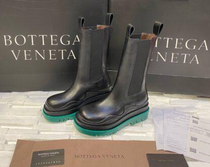 bottega veneta ayakkabi the tire boot bot uzun boy siyah yesil