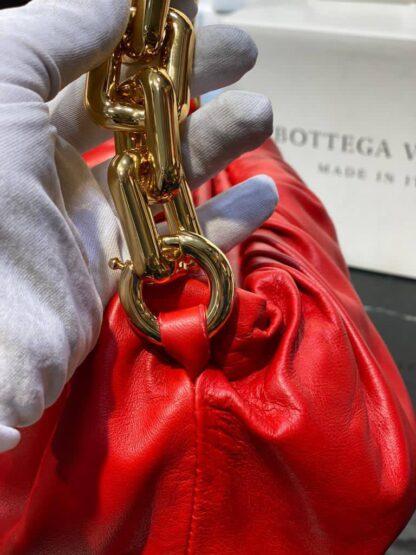 bottega veneta canta the chain pouch zincirli kirmizi