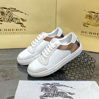 burberry ayakkabi check pattern sneakers beyaz