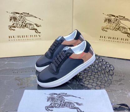 burberry ayakkabi check pattern sneakers siyah