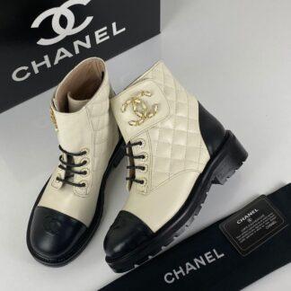 chanel ayakkabi 19 lace up ankle bot beyaz 4cm