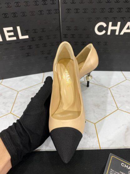 chanel ayakkabi Topuklu Nude siyah