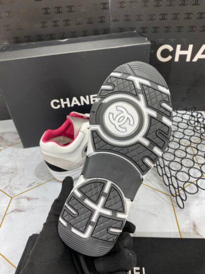 chanel ayakkabi beyaz pembe sneaker