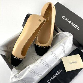 chanel ayakkabi bide siyah ballerina babet