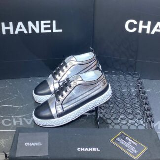 chanel ayakkabi silver sneakers