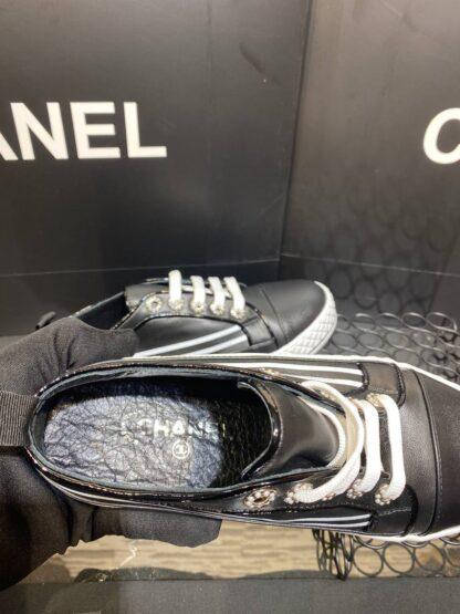 chanel ayakkabi siyah sneaker