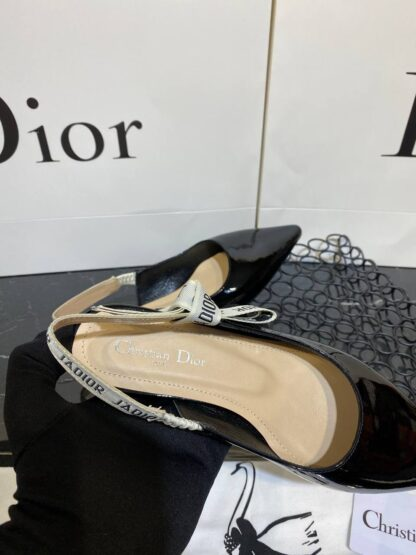 christian dior ayakkabi babet rugan siyah
