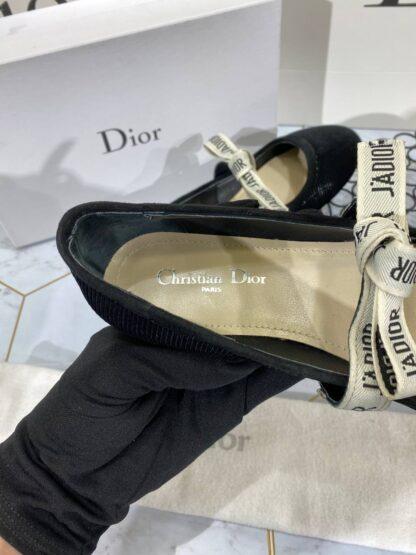 christian dior ayakkabi siyah babet