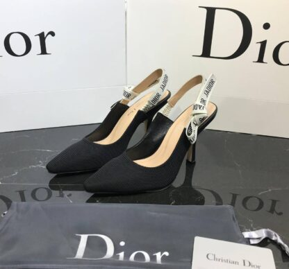 christian dior ayakkabi siyah stiletto jadior slingback topuk 9 cm