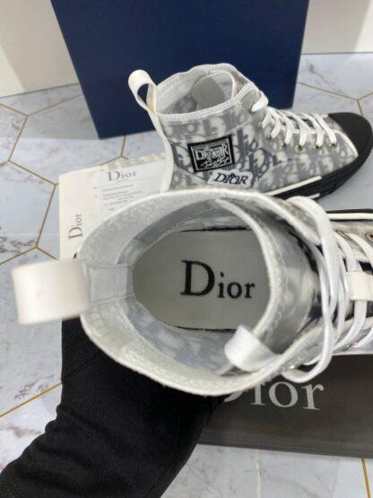 christian dior ayakkabi sneaker high top siyah beyaz