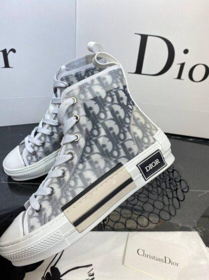 christian dior ayakkabi sneaker high top siyah beyaz gri