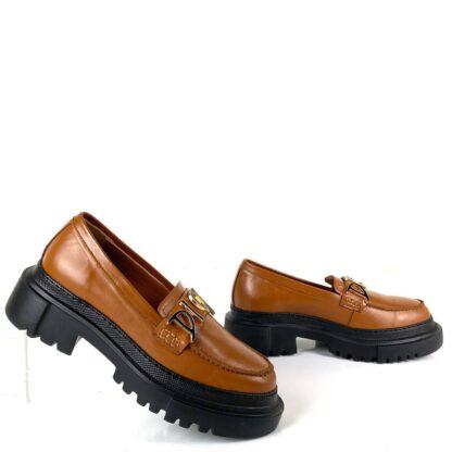 christian dior ayakkabi taba deri derby topuk 5 cm