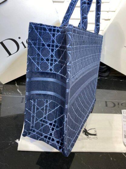 christian dior canta book tote kadife lacivert 42x36 cm