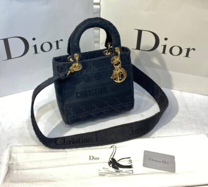 christian dior canta lady nakisli siyah 23x21 cm